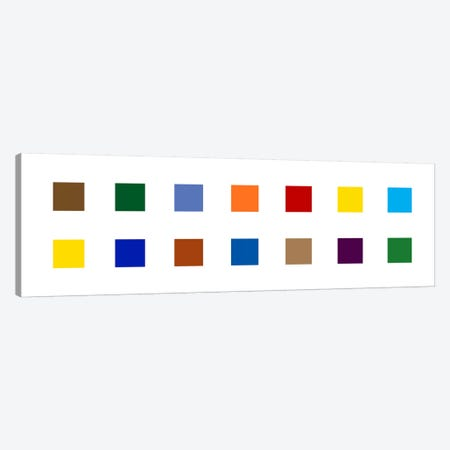 Modern Art- Colorful Squares Canvas Print #MA491} by 5by5collective Canvas Art