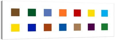 Modern Art- Colorful Squares Canvas Art Print