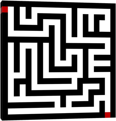 Modern Art- Labyrinth Canvas Art Print