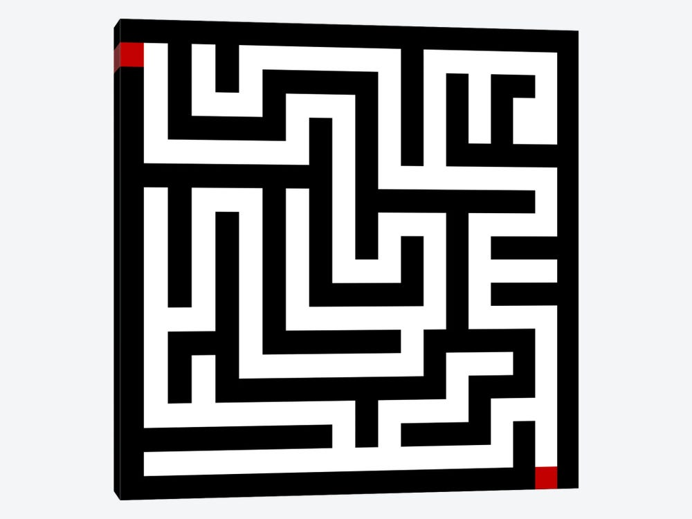 Modern Art- Labyrinth by 5by5collective 1-piece Art Print