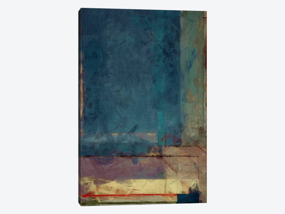 Modern Art - Ocean view Window by 5by5collective 1-piece Canvas Artwork