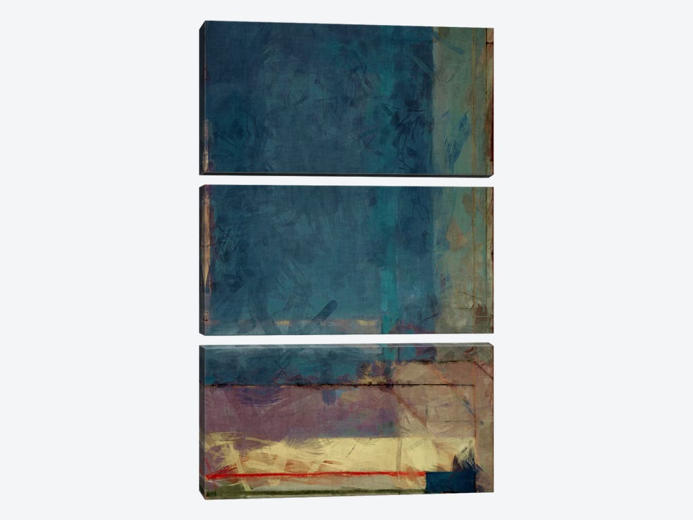 Modern Art - Ocean view Window by 5by5collective 3-piece Canvas Artwork
