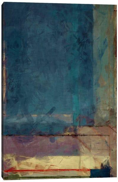 Modern Art - Ocean view Window Canvas Art Print
