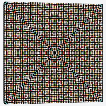 Modern Art- Gumball Drops Canvas Print #MA507} by 5by5collective Art Print