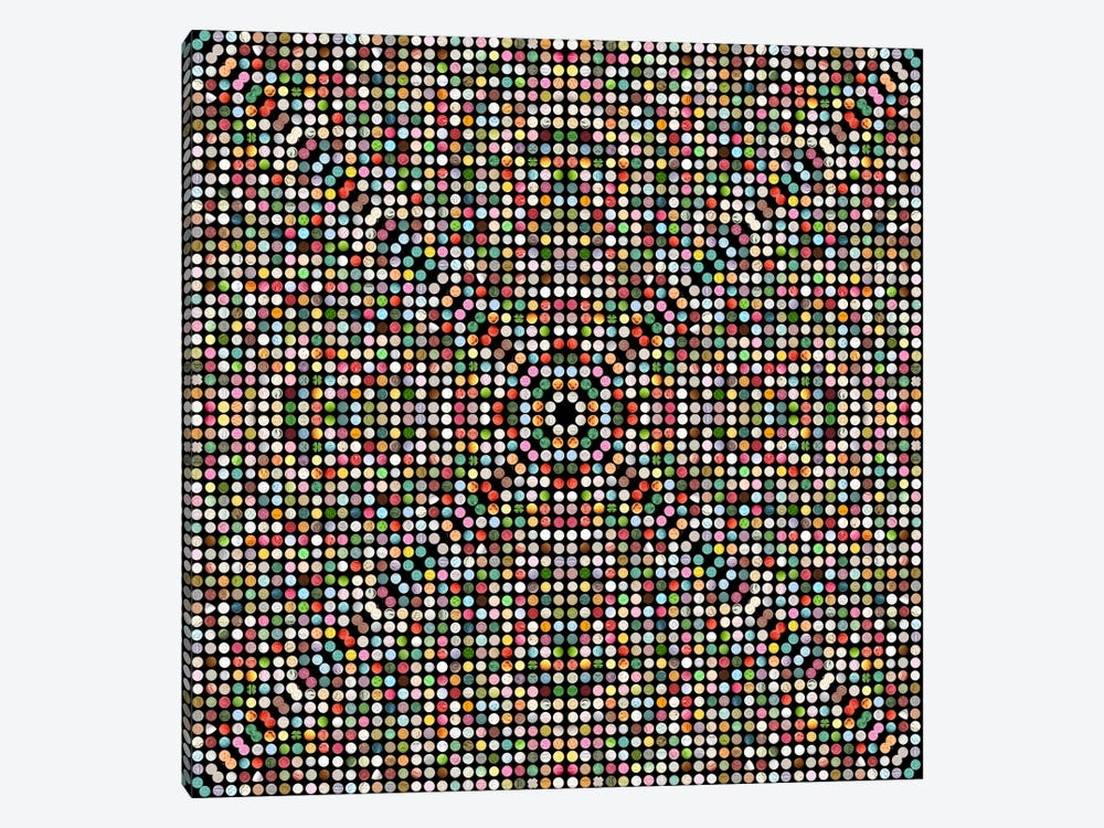 Modern Art- Gumball Drops by 5by5collective 1-piece Canvas Art