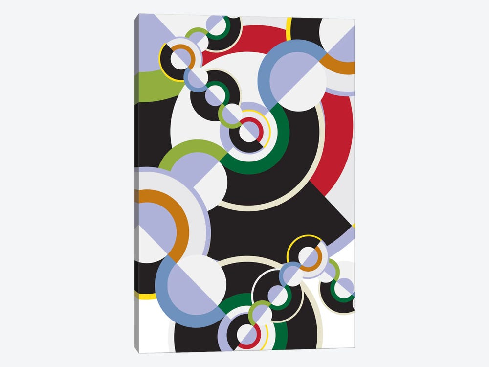 Modern Art- Clockwork by 5by5collective 1-piece Canvas Wall Art