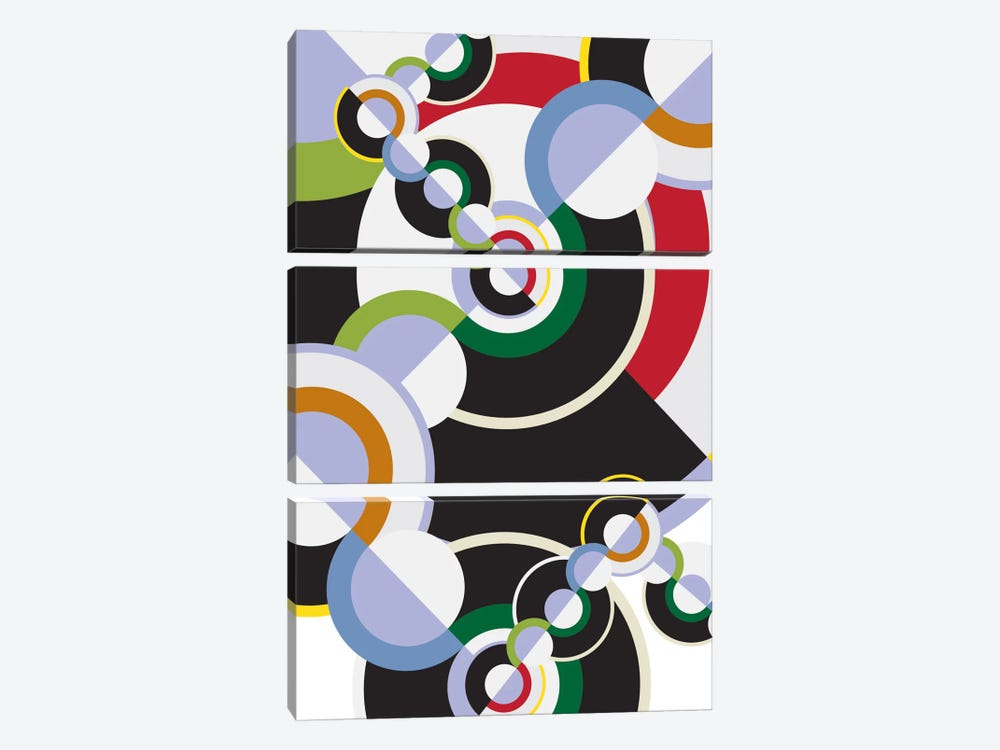 Modern Art- Clockwork by 5by5collective 3-piece Canvas Wall Art