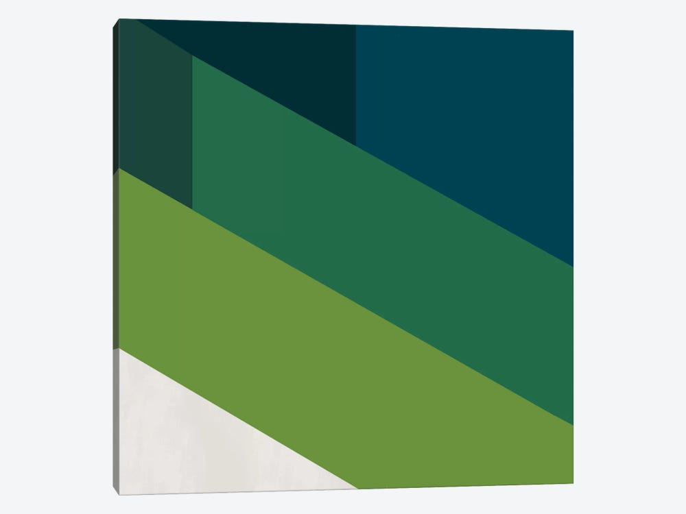 Modern Art- Green Blades of Grass by 5by5collective 1-piece Canvas Wall Art