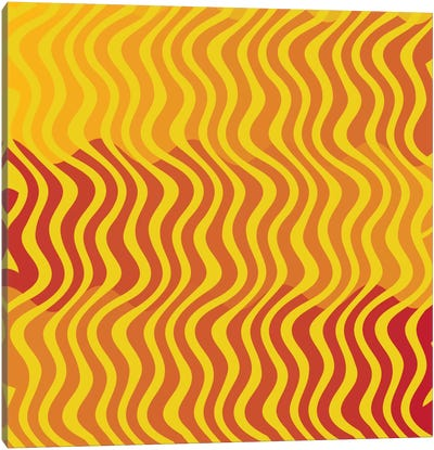 Modern Art- Groovy Yellow Canvas Art Print