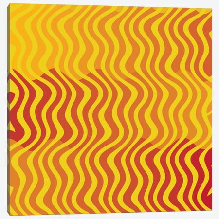 Modern Art- Groovy Yellow Canvas Print #MA60} by 5by5collective Canvas Print