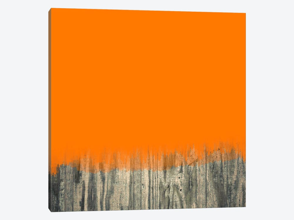 Modern Art- Over the Wood Fence by 5by5collective 1-piece Canvas Art Print