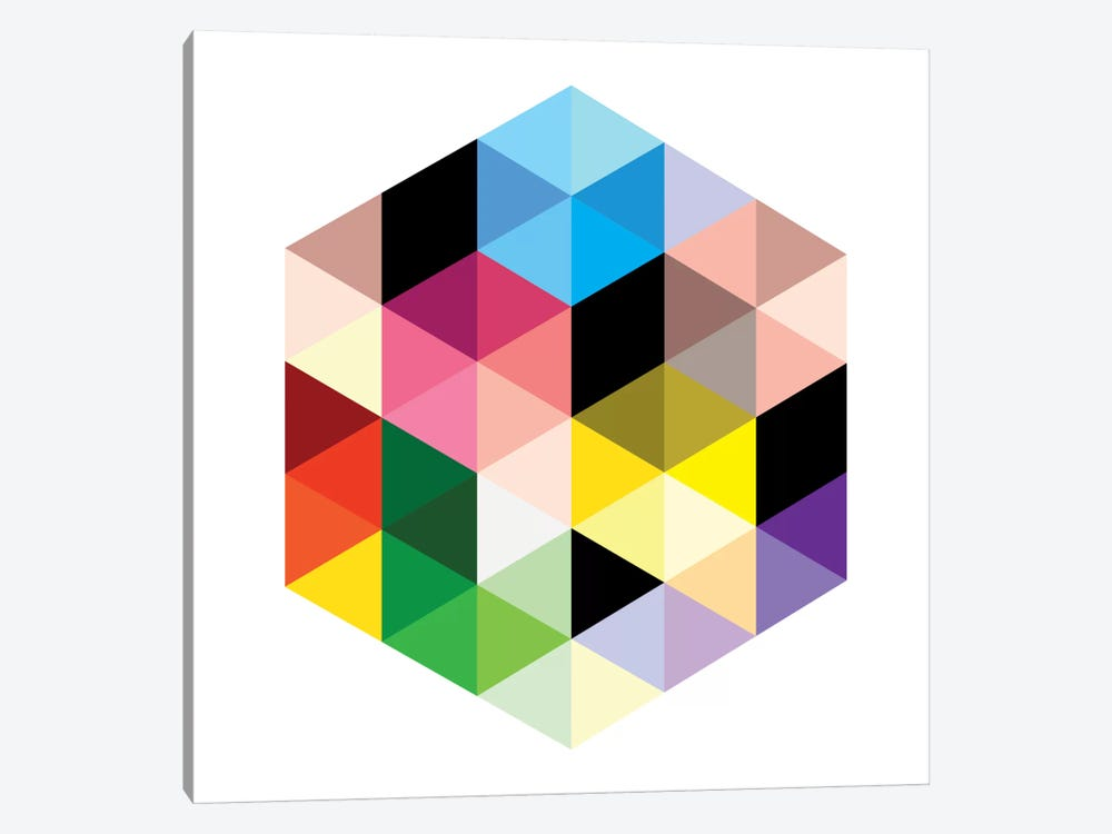 Modern Art- Cuboids lll by 5by5collective 1-piece Canvas Art
