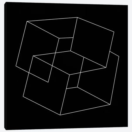 Modern Art- Cube Illusion Canvas Print #MA69} by 5by5collective Canvas Art Print