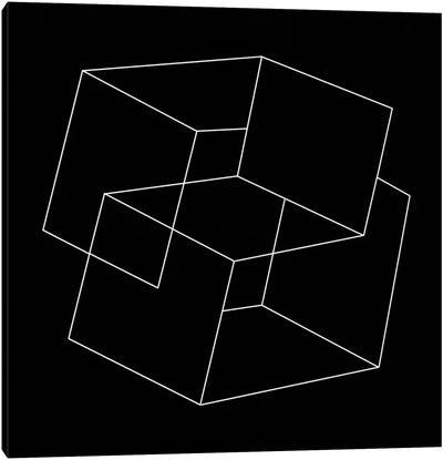 Modern Art- Cube Illusion Canvas Print #MA69