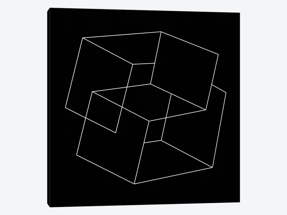 Modern Art- Cube Illusion by 5by5collective 1-piece Canvas Artwork