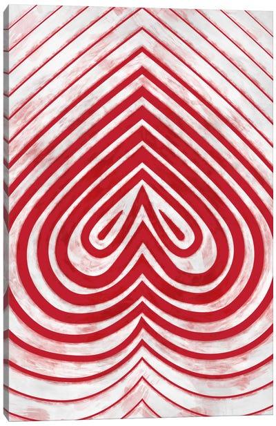 Modern Art - Red Spade Canvas Print #MA71