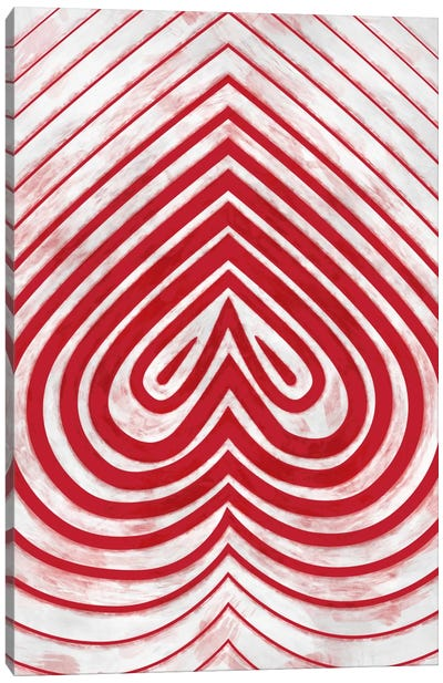 Modern Art - Red Spade Canvas Art Print