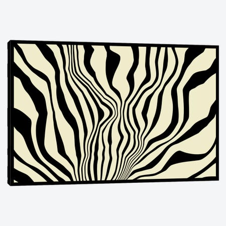 Modern Art - Zebra Print Canvas Print #MA82} by 5by5collective Art Print