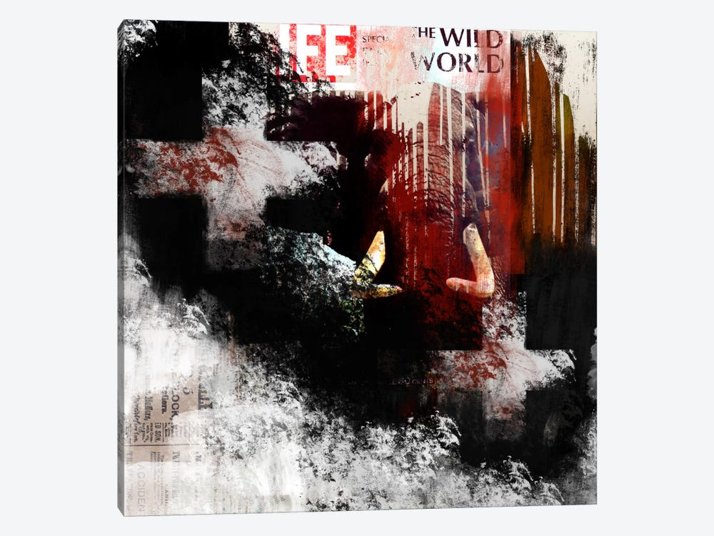 Modern Art- The Wild World by 5by5collective 1-piece Canvas Art Print