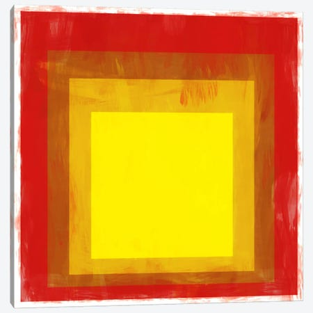 Modern Art- Red & Yellow Squares Canvas Print #MA90} by 5by5collective Canvas Wall Art