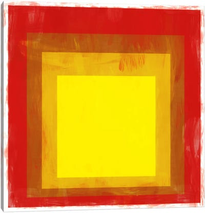 Modern Art- Red & Yellow Squares Canvas Art Print