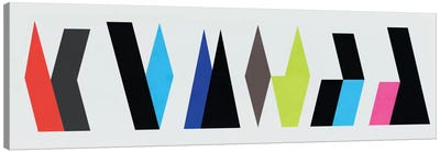 Modern Art- Six Chunk Logo Canvas Art Print