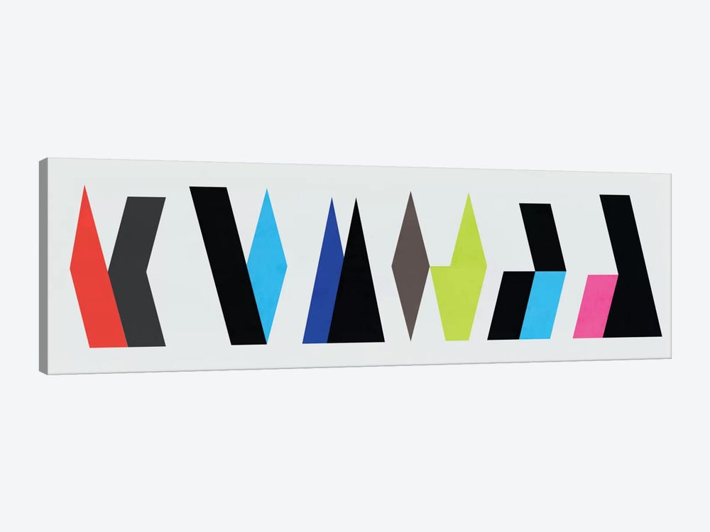 Modern Art- Six Chunk Logo by 5by5collective 1-piece Canvas Wall Art