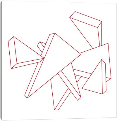 Modern Art- Stencil Triangles Canvas Print #MA97