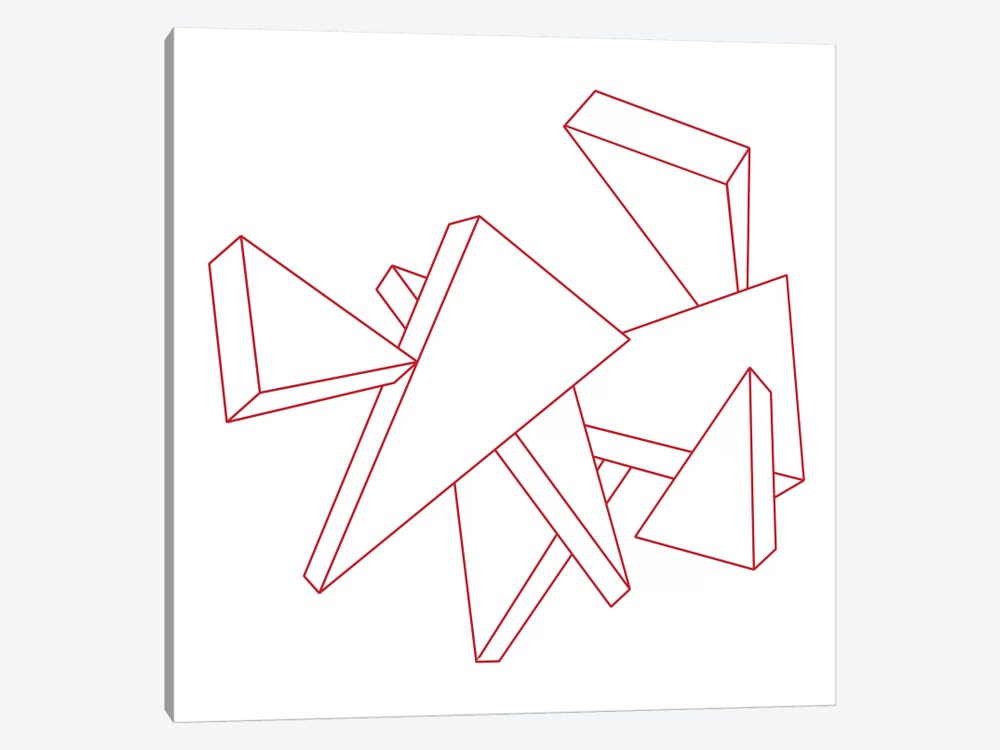 Modern Art- Stencil Triangles by 5by5collective 1-piece Canvas Art Print