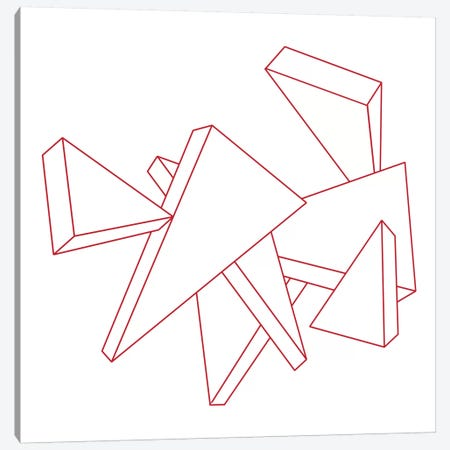 Modern Art- Stencil Triangles Canvas Print #MA97} by 5by5collective Art Print