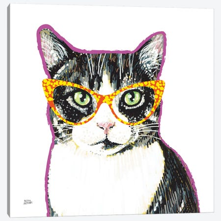Bespectacled Pet III Canvas Print #MAA10} by Melissa Averinos Art Print