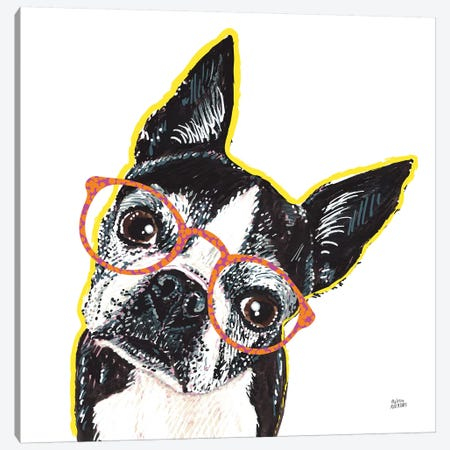 Bespectacled Pet IV Canvas Print #MAA11} by Melissa Averinos Canvas Art Print