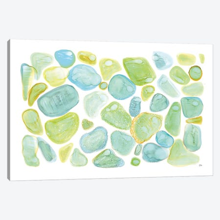 Seaglass Abstract Canvas Print #MAA12} by Melissa Averinos Art Print