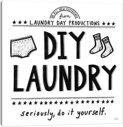 DIY Laundry Canvas Art Print
