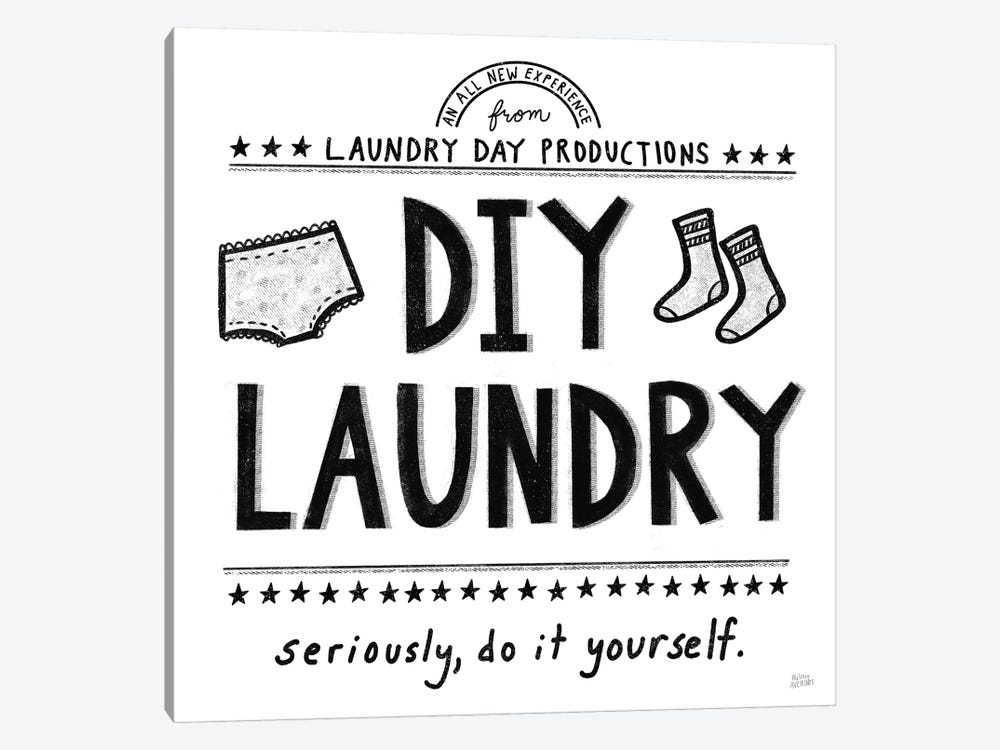 DIY Laundry by Melissa Averinos 1-piece Canvas Wall Art