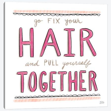 Fix Your Hair 3-Piece Canvas #MAA28} by Melissa Averinos Canvas Wall Art