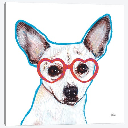 Bespectacled Pet I Canvas Print #MAA8} by Melissa Averinos Canvas Wall Art