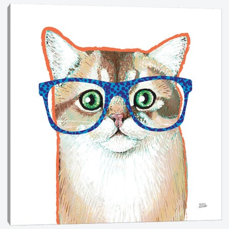 Bespectacled Pet II Canvas Print #MAA9} by Melissa Averinos Canvas Wall Art