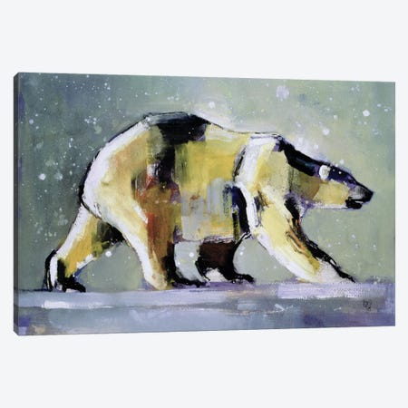 Ice Bear Canvas Print #MAD10} by Mark Adlington Canvas Art