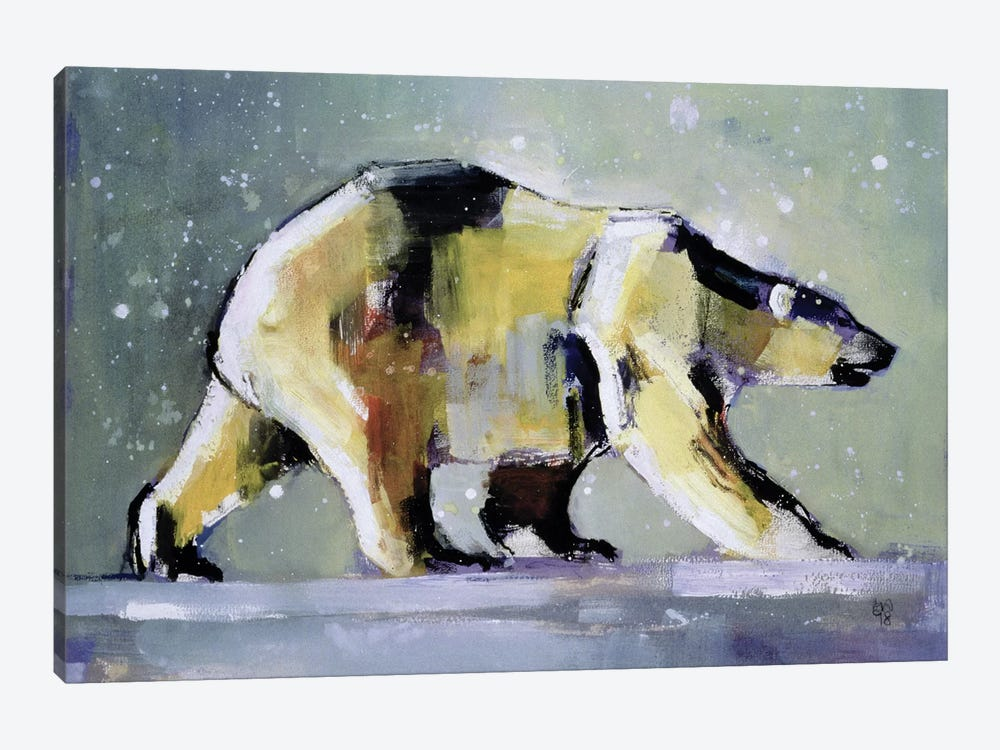 Ice Bear by Mark Adlington 1-piece Canvas Art Print