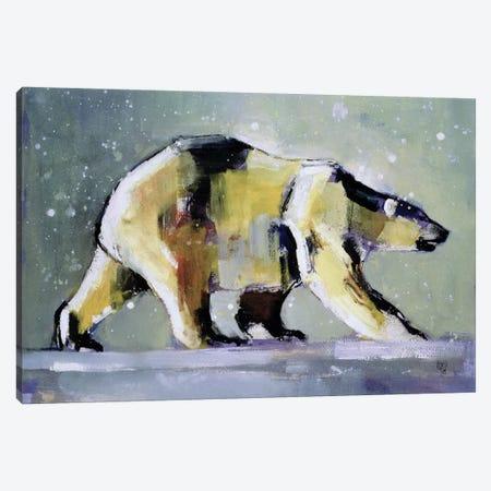 Ice Bear Canvas Print #MAD10} by Mark Adlington Canvas Art
