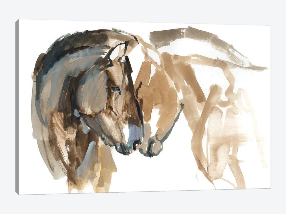 Nose To Nose (Przewalski) by Mark Adlington 1-piece Canvas Art