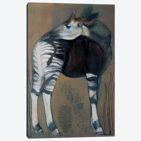 Okapi Canvas Print #MAD14} by Mark Adlington Canvas Art Print