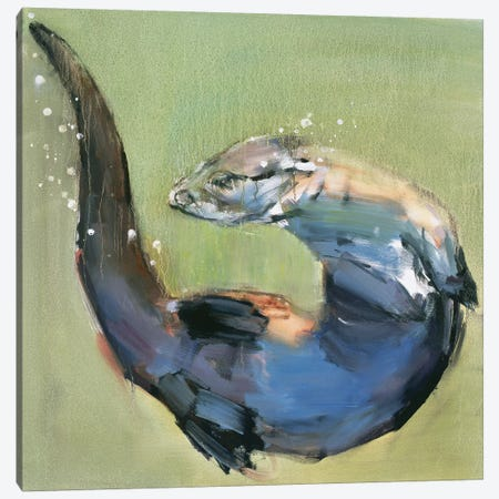 Otter Canvas Print #MAD15} by Mark Adlington Canvas Art Print