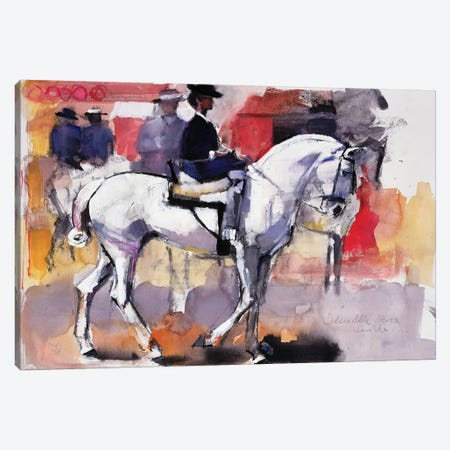 Side-Saddle At The Feria de Sevilla Canvas Print #MAD24} by Mark Adlington Canvas Artwork