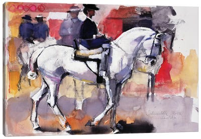 Side-Saddle At The Feria de Sevilla Canvas Art Print