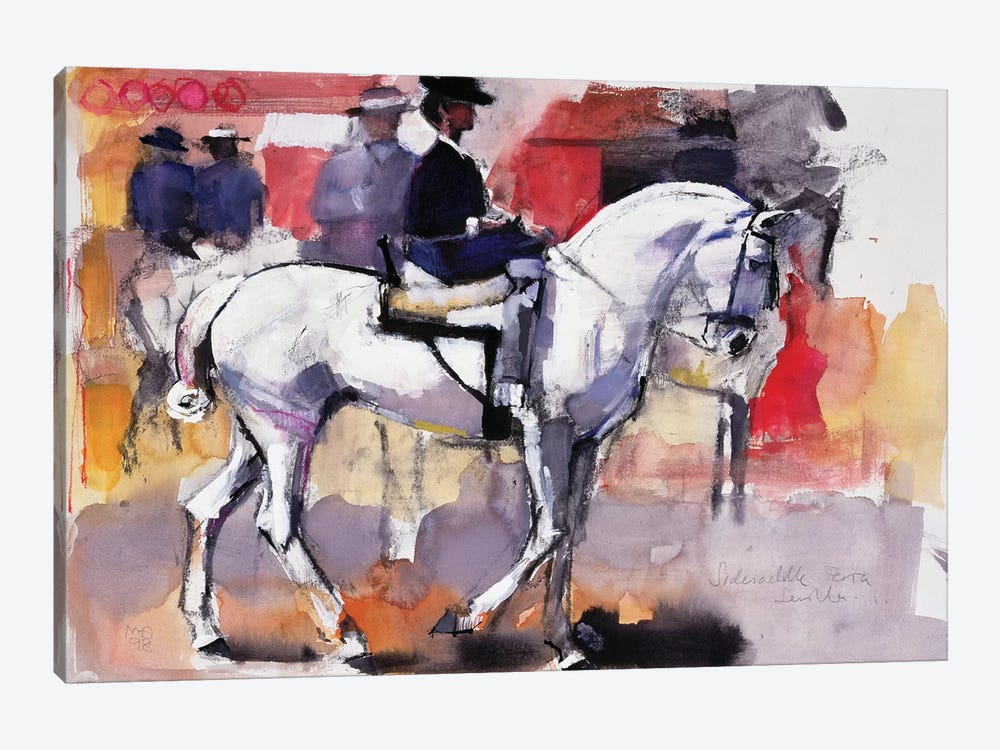 Side-Saddle At The Feria de Sevilla by Mark Adlington 1-piece Canvas Wall Art