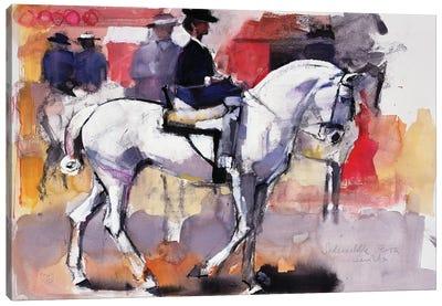 Side-Saddle At The Feria De Sevilla, 1998 Canvas Art Print