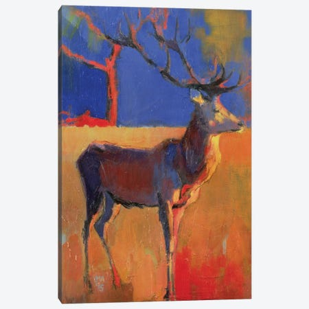 The Red Tree Canvas Print #MAD27} by Mark Adlington Canvas Artwork