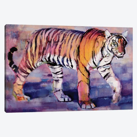 Tigress, Khana, India Canvas Print #MAD28} by Mark Adlington Art Print
